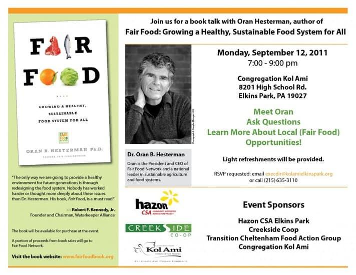 Fair Food Book Invitation