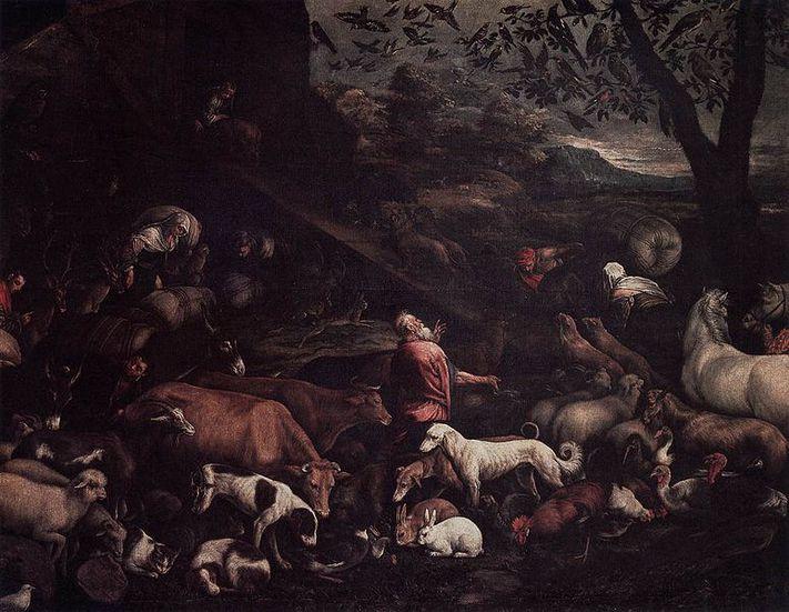 [IMG The Animals Entering Noah's Ark 1570s Jacopo Bassano]