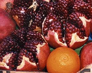 pomagranites and oranges