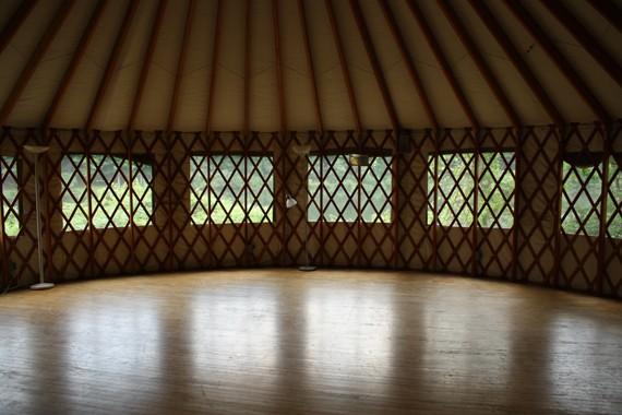 Red Yurt Exterior
